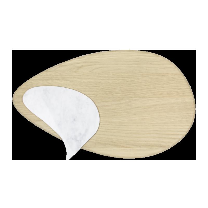 Tagliere dal design moderno con inserto in marmo Carrara asportabile