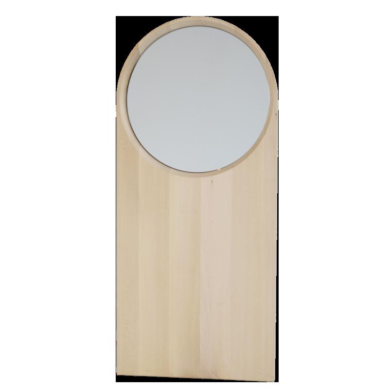 Specchio in legno massello dal design moderno